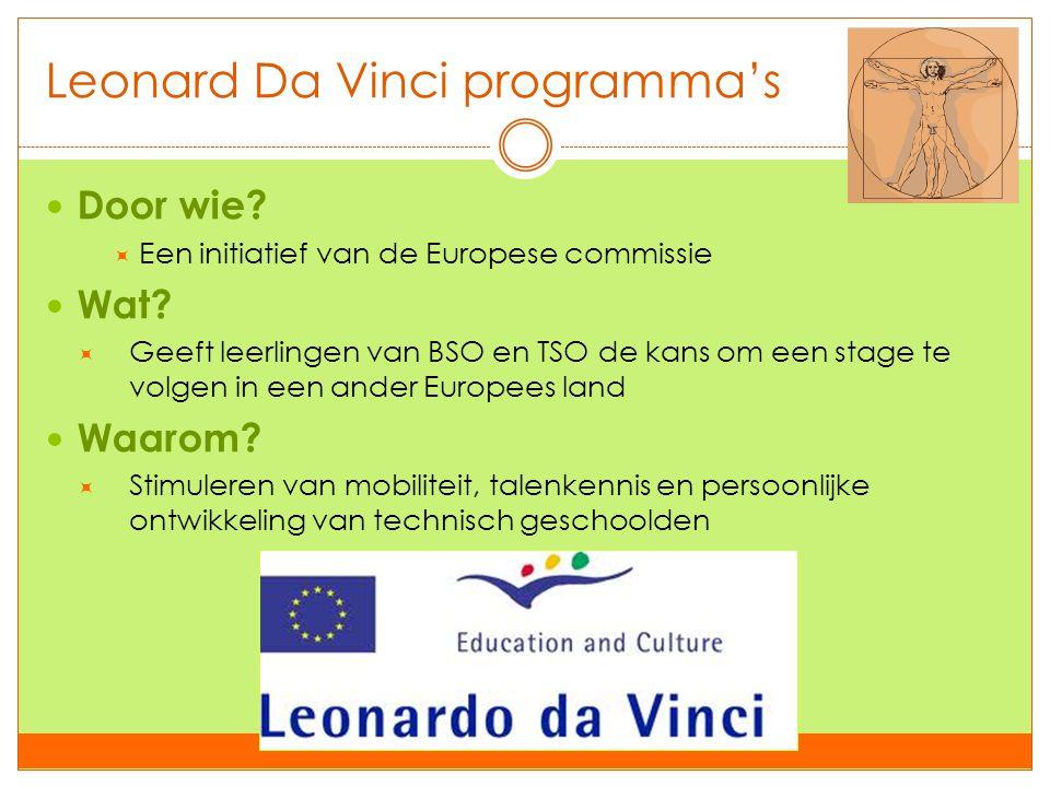 Leonard Da Vinci programma's