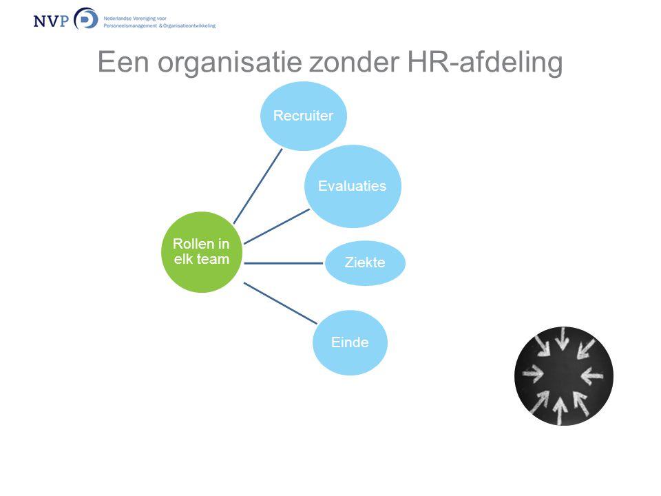 Een organisatie zonder HR-afdeling