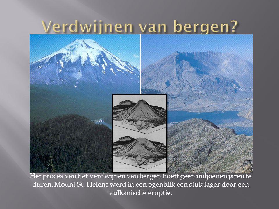 Verdwijnen van bergen