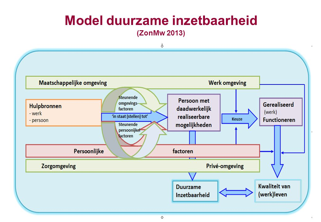 Model duurzame inzetbaarheid (ZonMw 2013)