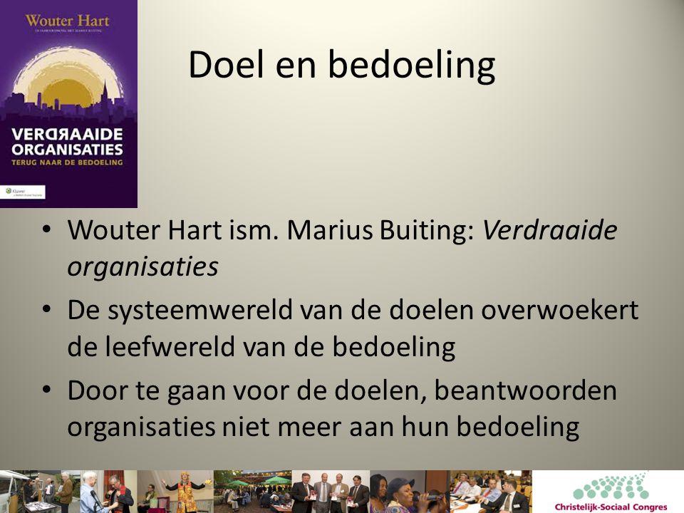 Doel en bedoeling Wouter Hart ism. Marius Buiting: Verdraaide organisaties.