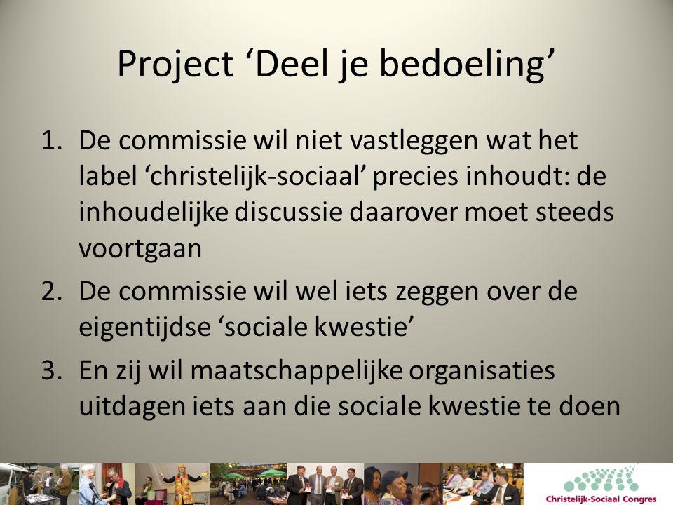 Project 'Deel je bedoeling'