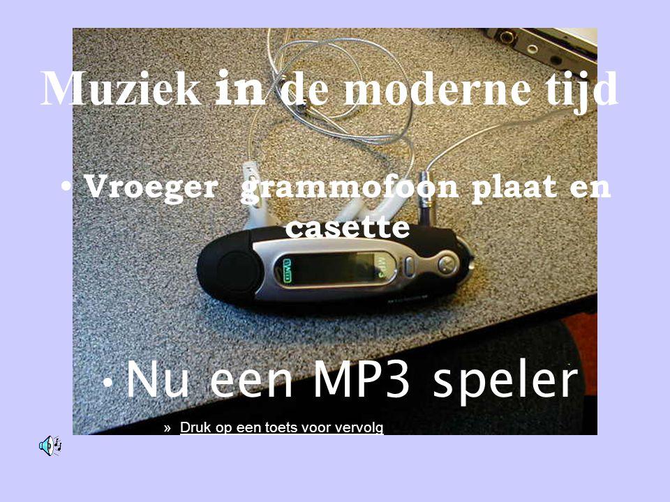 Muziek in de moderne tijd