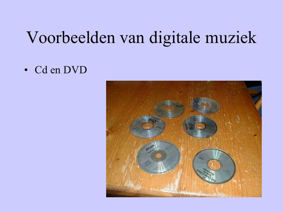 Voorbeelden van digitale muziek