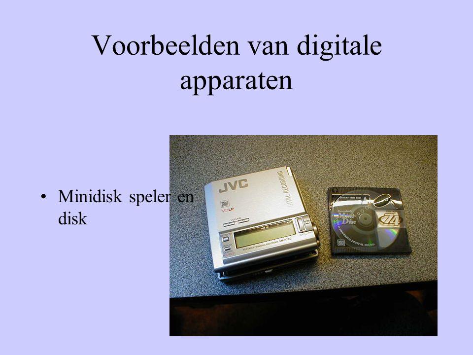 Voorbeelden van digitale apparaten