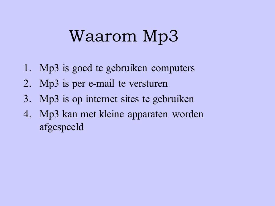 Waarom Mp3 Mp3 is goed te gebruiken computers