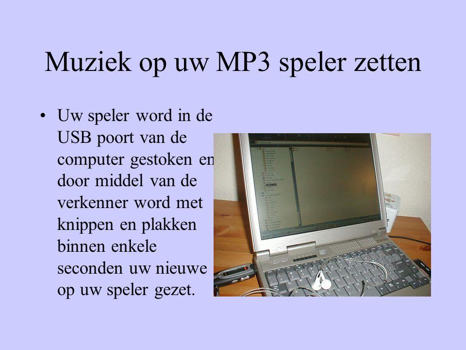 Muziek op uw MP3 speler zetten