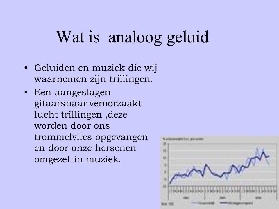 Wat is analoog geluid Geluiden en muziek die wij waarnemen zijn trillingen.