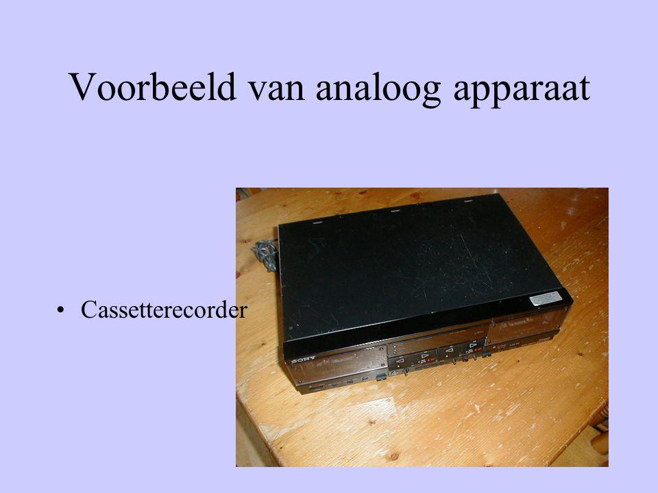 Voorbeeld van analoog apparaat