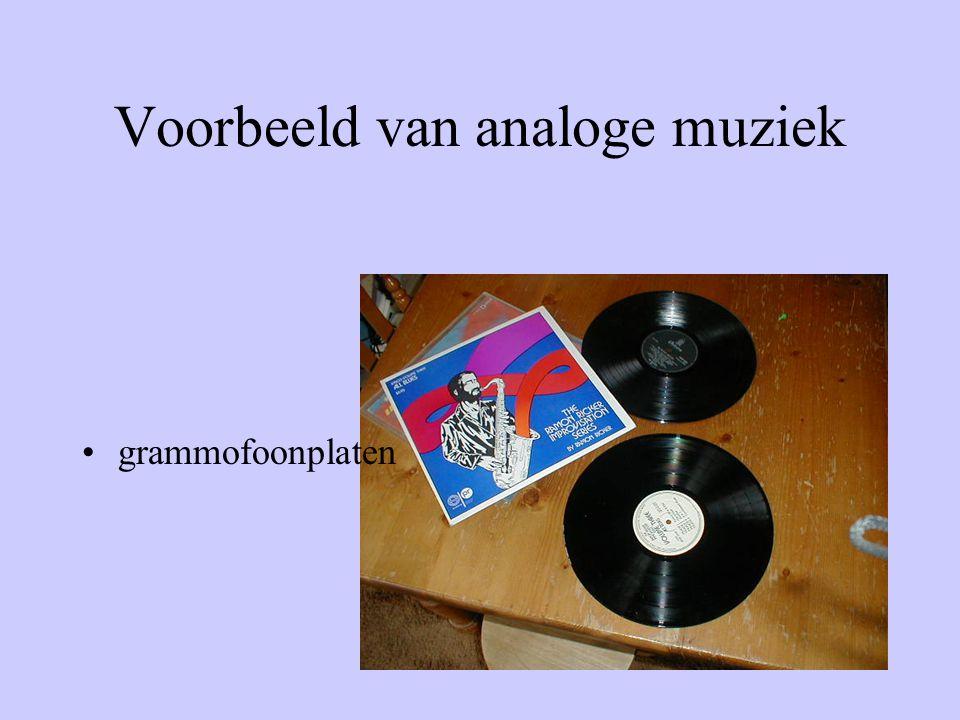 Voorbeeld van analoge muziek