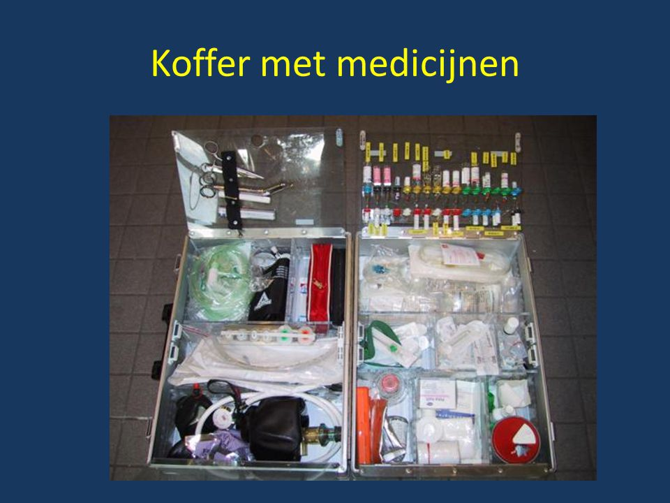 Koffer met medicijnen