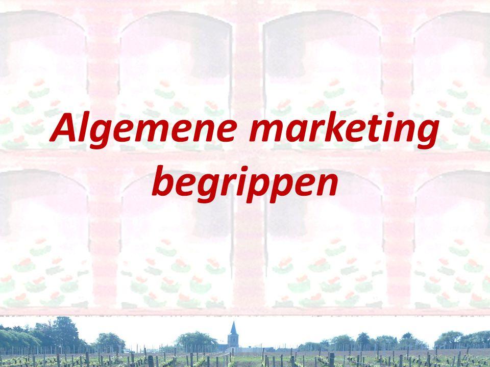 Algemene marketing begrippen