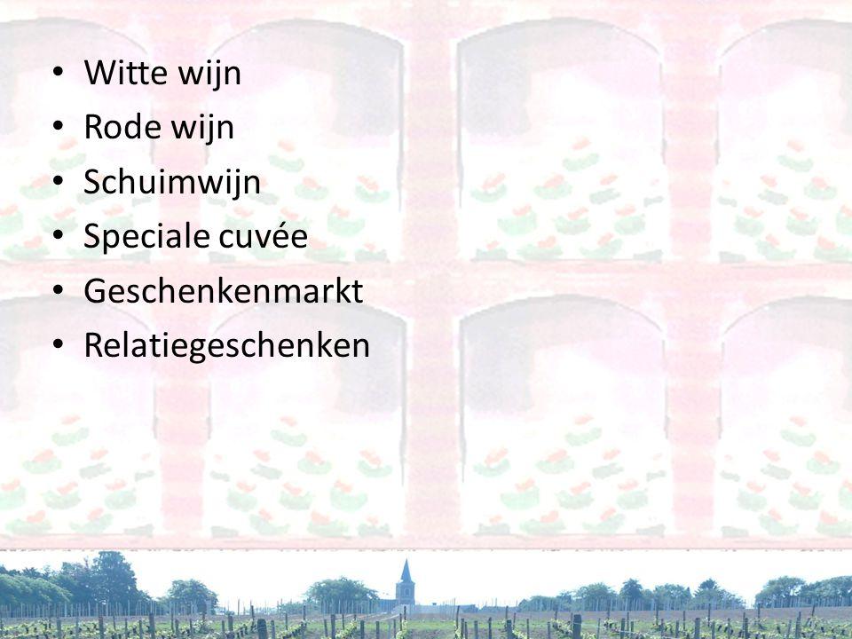 Witte wijn Rode wijn Schuimwijn Speciale cuvée Geschenkenmarkt Relatiegeschenken