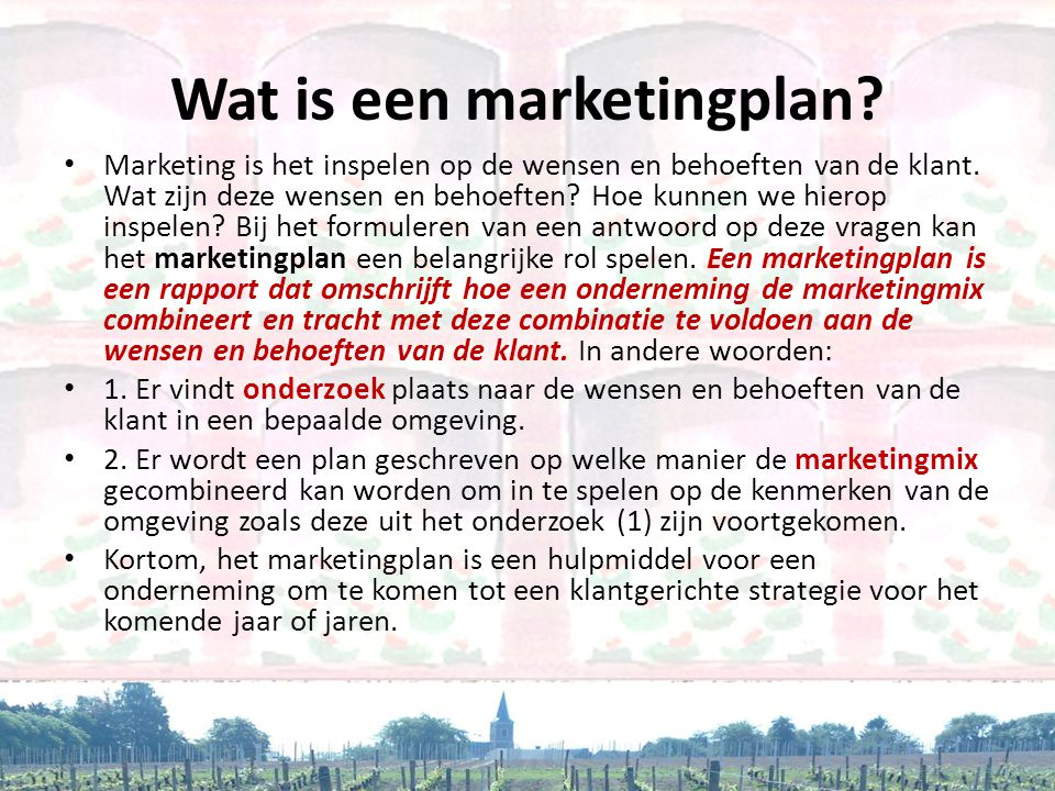 Wat is een marketingplan