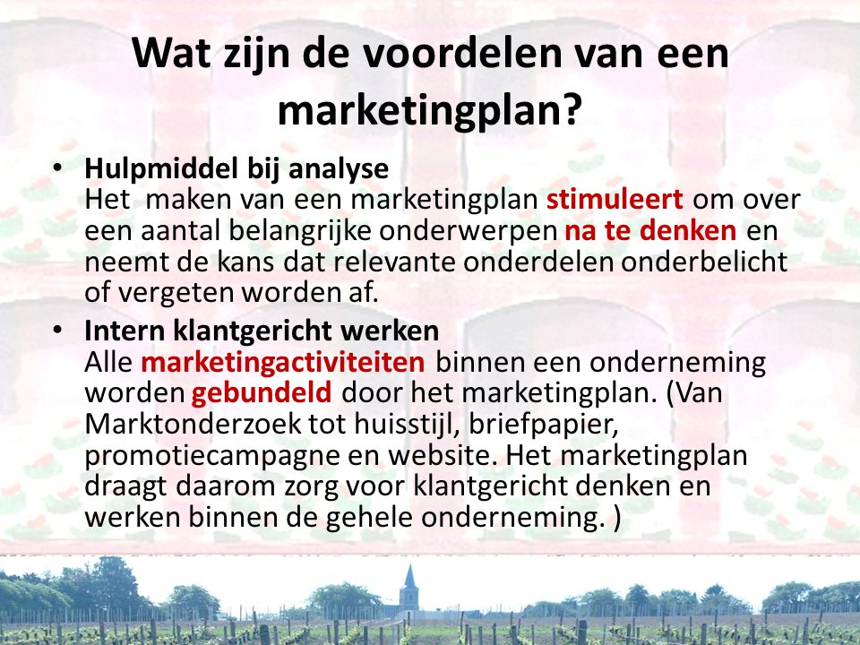 Wat zijn de voordelen van een marketingplan