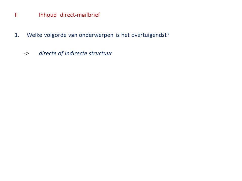 II Inhoud direct-mailbrief