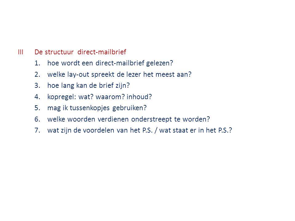 III De structuur direct-mailbrief 1