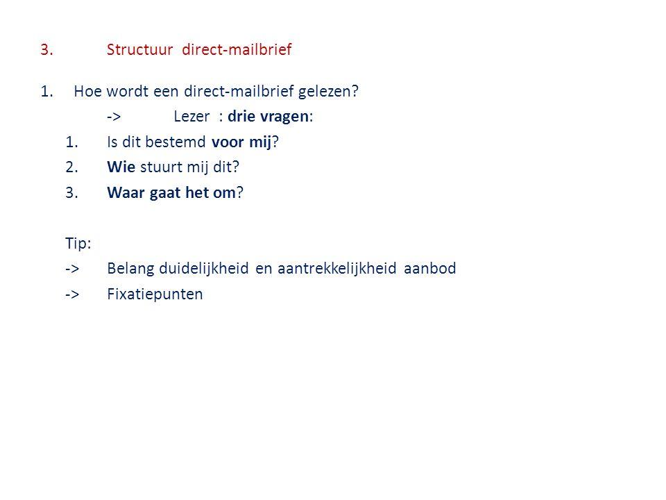3. Structuur direct-mailbrief