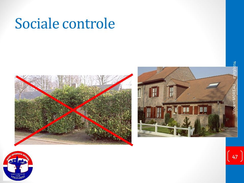 Sociale controle 03/03/2014 Vincent MOREAU