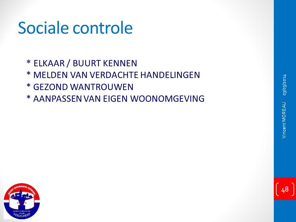 Sociale controle * ELKAAR / BUURT KENNEN