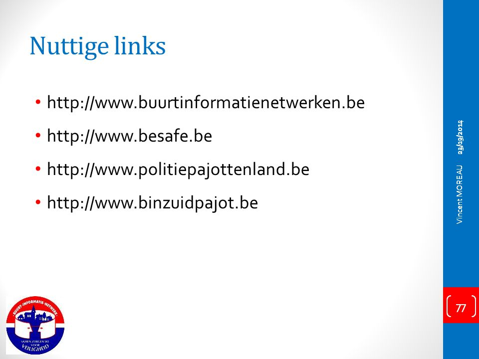 Nuttige links http://www.buurtinformatienetwerken.be
