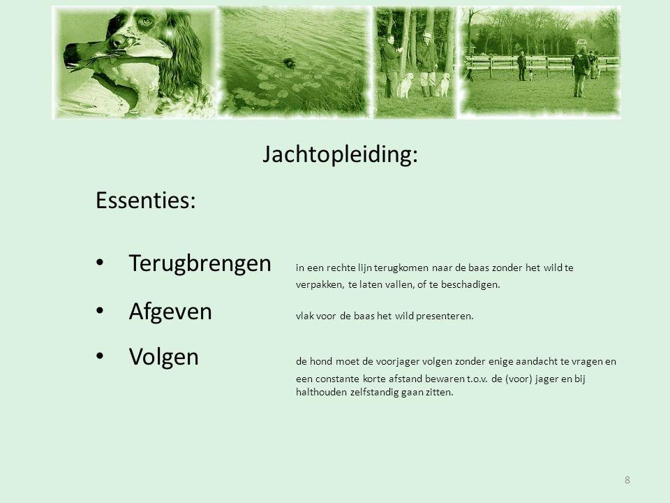 Inschrijfavond Jachtopleiding: Essenties: