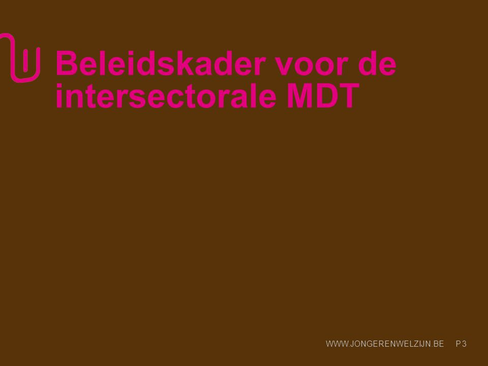 Beleidskader voor de intersectorale MDT