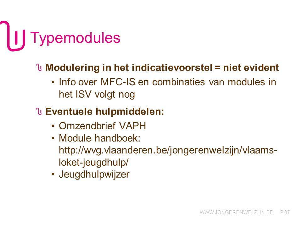 Typemodules Modulering in het indicatievoorstel = niet evident