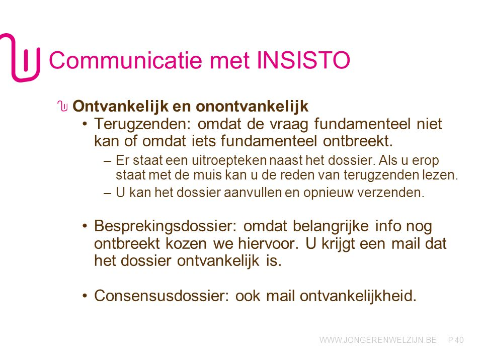 Communicatie met INSISTO