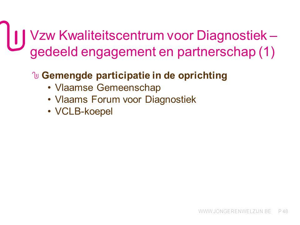 Vzw Kwaliteitscentrum voor Diagnostiek – gedeeld engagement en partnerschap (1)
