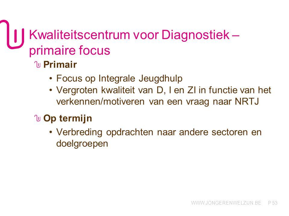 Kwaliteitscentrum voor Diagnostiek – primaire focus