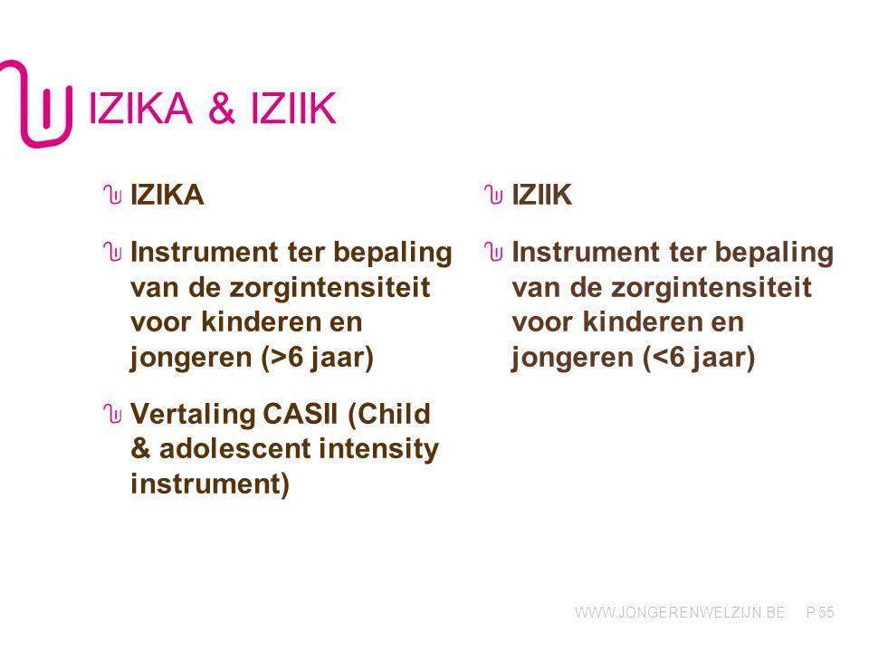 IZIKA & IZIIK IZIKA. Instrument ter bepaling van de zorgintensiteit voor kinderen en jongeren (>6 jaar)
