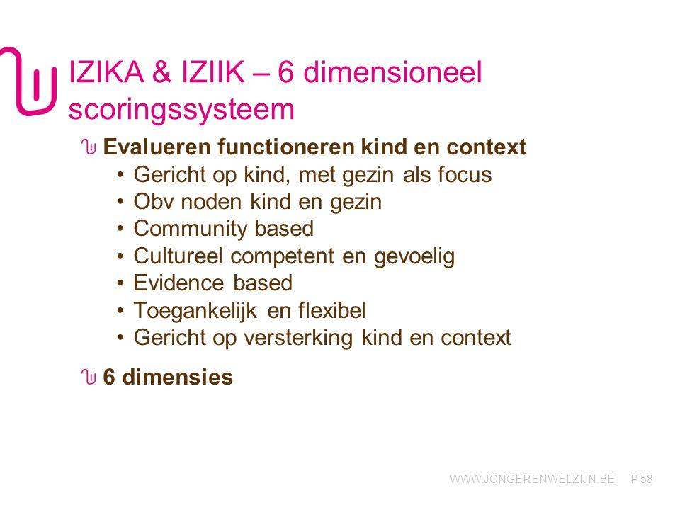 IZIKA & IZIIK – 6 dimensioneel scoringssysteem
