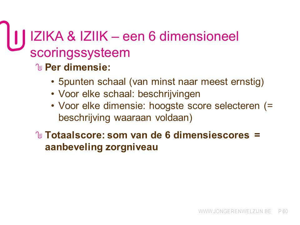 IZIKA & IZIIK – een 6 dimensioneel scoringssysteem