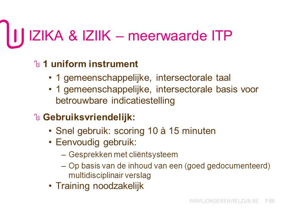 IZIKA & IZIIK – meerwaarde ITP