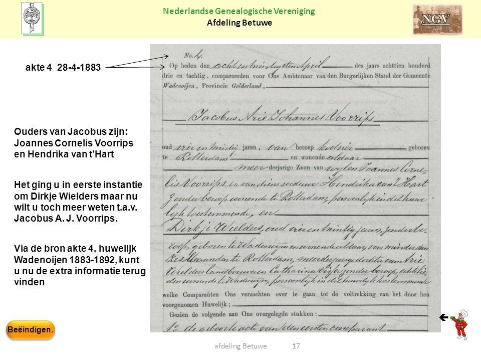 Ouders van Jacobus zijn: Joannes Cornelis Voorrips
