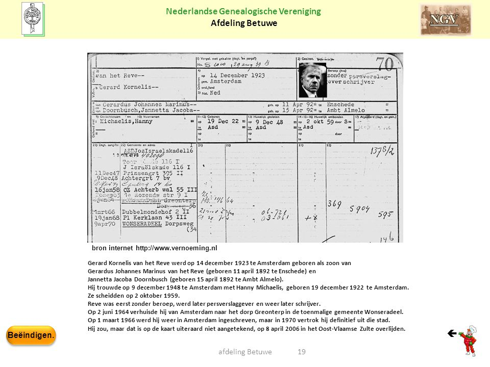  afdeling Betuwe bron internet http://www.vernoeming.nl