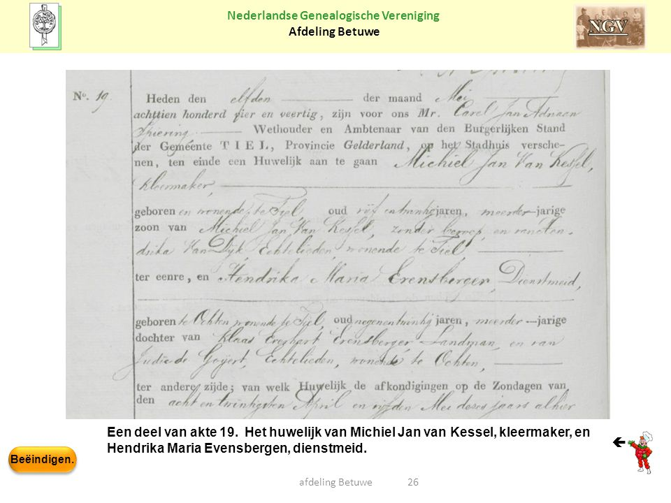 Hendrika Maria Evensbergen, dienstmeid. 