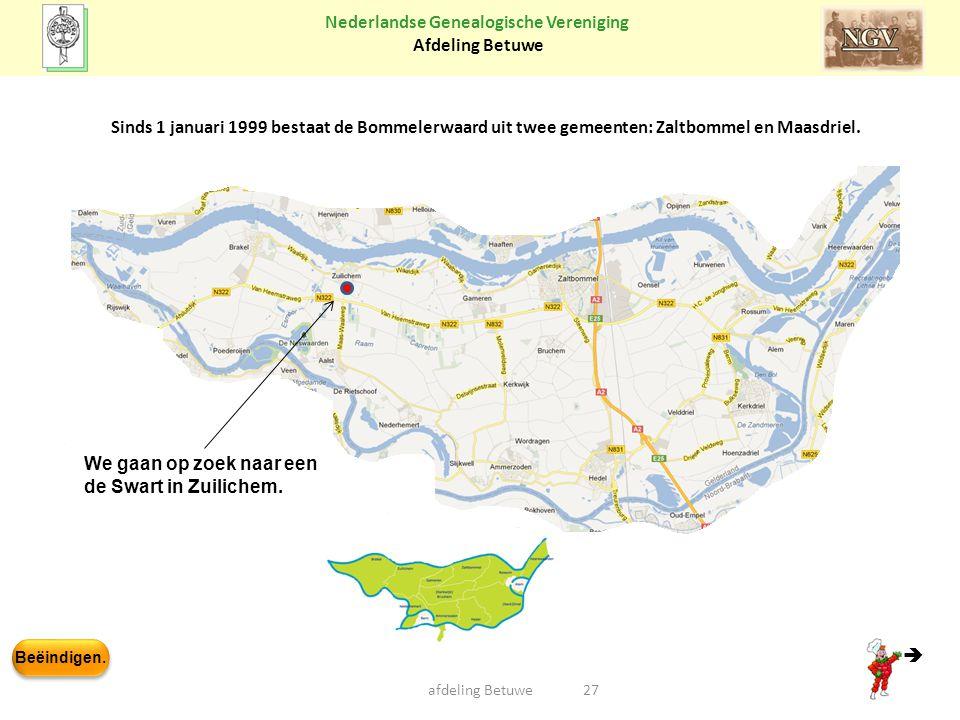 Sinds 1 januari 1999 bestaat de Bommelerwaard uit twee gemeenten: Zaltbommel en Maasdriel.