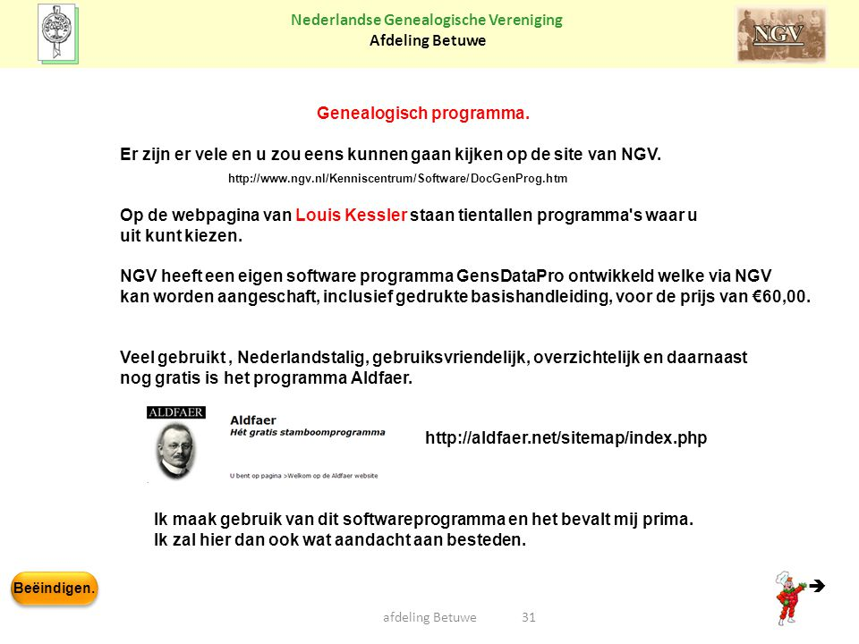 Genealogisch programma.