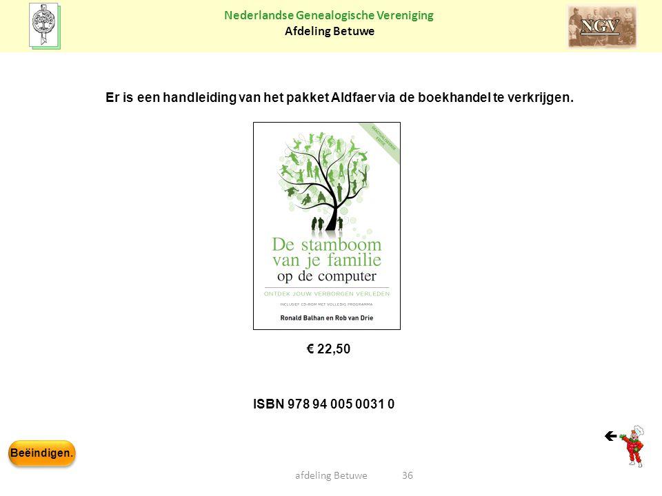 Er is een handleiding van het pakket Aldfaer via de boekhandel te verkrijgen.