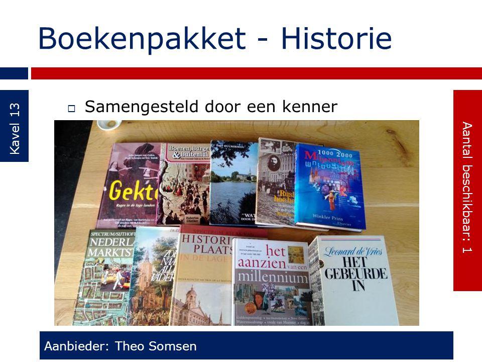 Boekenpakket - Historie