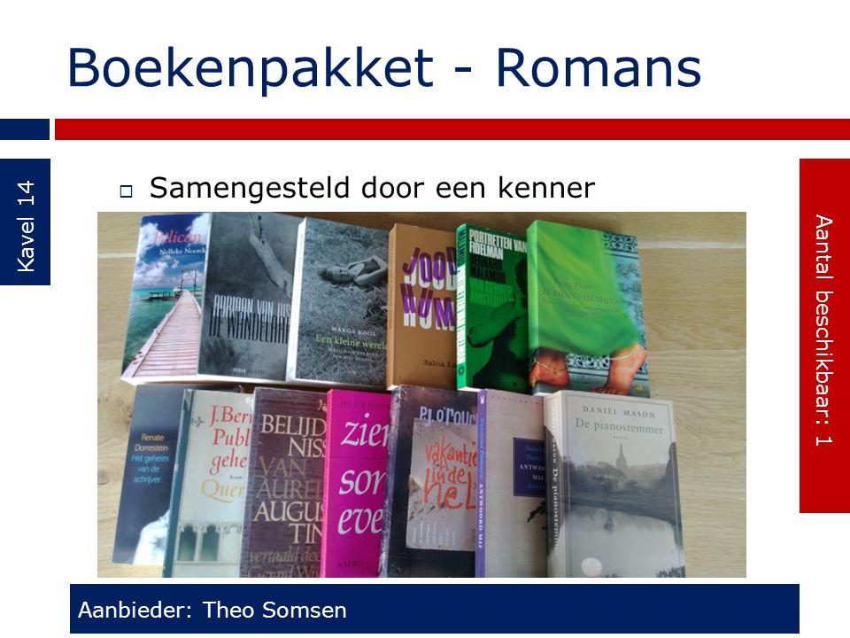 Boekenpakket - Romans Samengesteld door een kenner Kavel 14