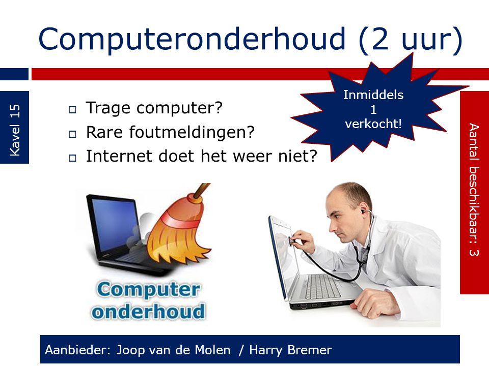 Computeronderhoud (2 uur)