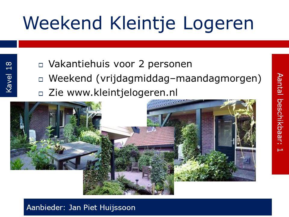 Weekend Kleintje Logeren