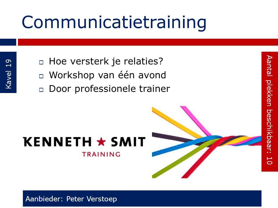 Communicatietraining