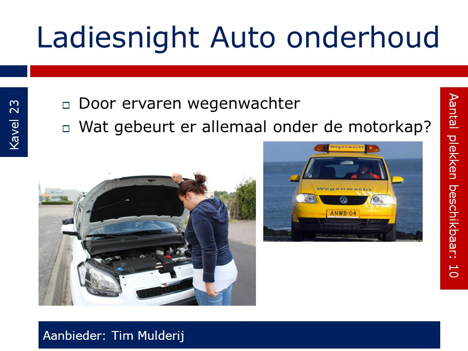 Ladiesnight Auto onderhoud