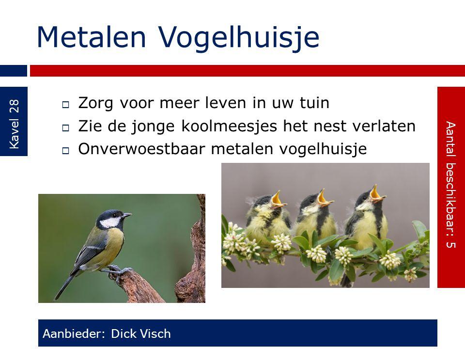 Metalen Vogelhuisje Zorg voor meer leven in uw tuin