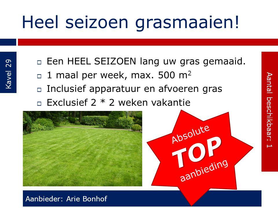 Heel seizoen grasmaaien!