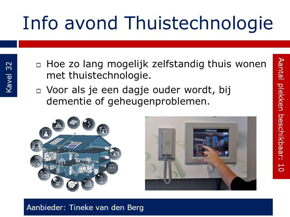 Info avond Thuistechnologie